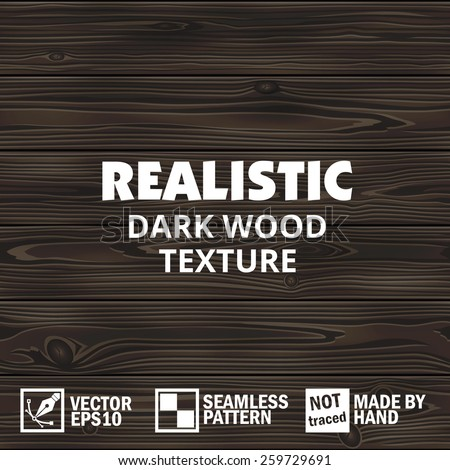 realistic dark vector wooden