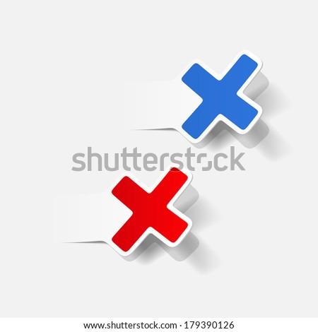 realistic design element: cross, no