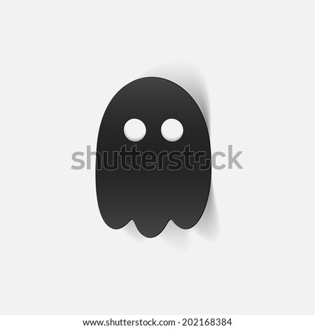 realistic design element  ghost