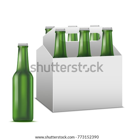 realistic detailed beer sixpack