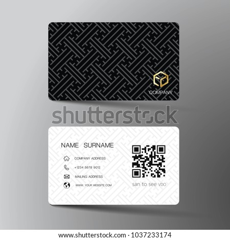 Business Card Template Design In Simple Style Download Free Vector