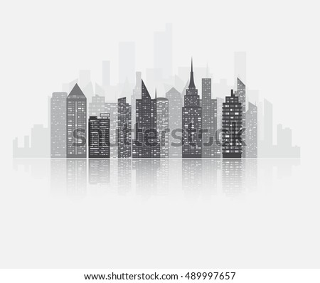realistic detailed urban view