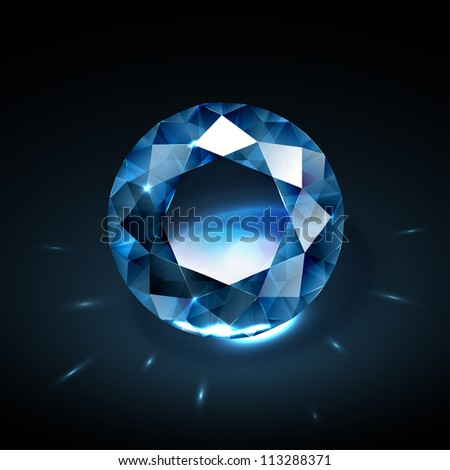 Realistic diamond vector