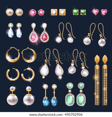 realistic earrings jewelry...
