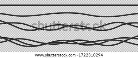 Realistic electrical wires flexible network. Foto stock ©