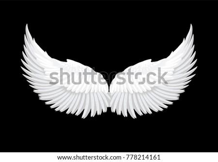 realistic elegant white angel