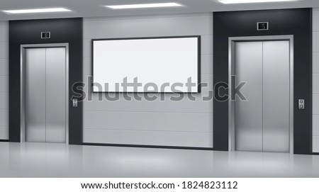 realistic elevators with close