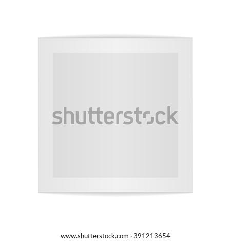 Realistic empty bend paper Sheet #391213654
