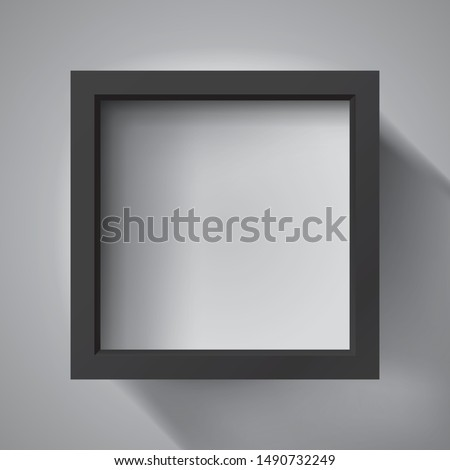 realistic empty black frame on
