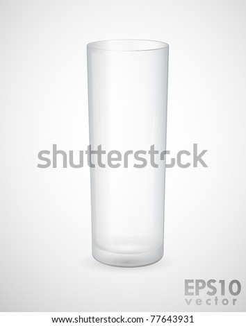 Realistic empty glass vector