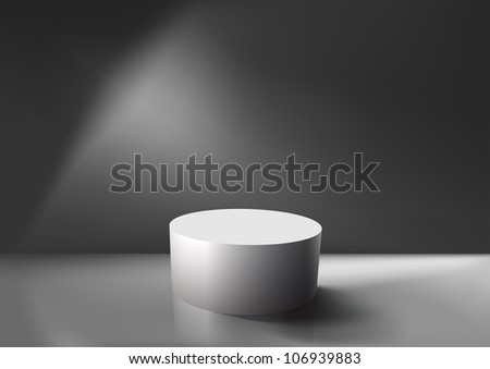 Realistic empty white podium, EPS10 vector.