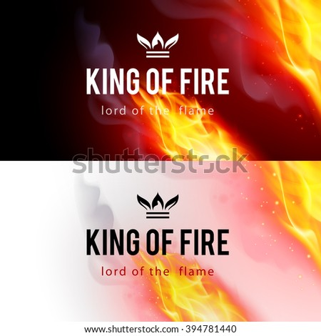 realistic fire flames effect on
