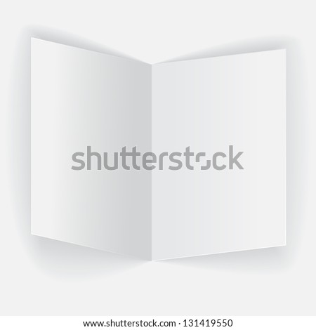 Realistic folded paper sheet on white background