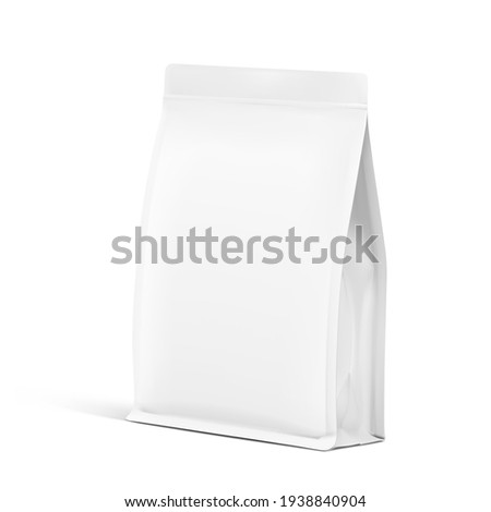 Realistic food bag isolated on white background. Front view. Vector illustration. Can be use for template your design, presentation, promo, ad. EPS 10. Сток-фото ©