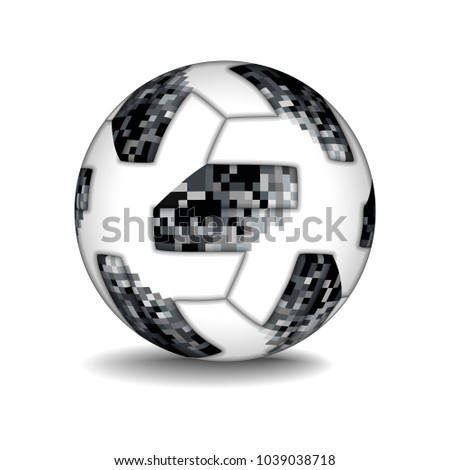 realistic football ball. 2018