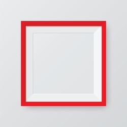 Realistic frame. Poster mock up template.  Perfect for your presentations. Vector illustration