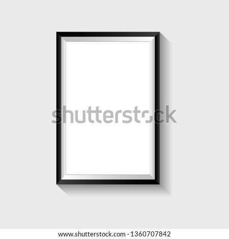 Realistic frame. Realistic picture frame isolated on white background.