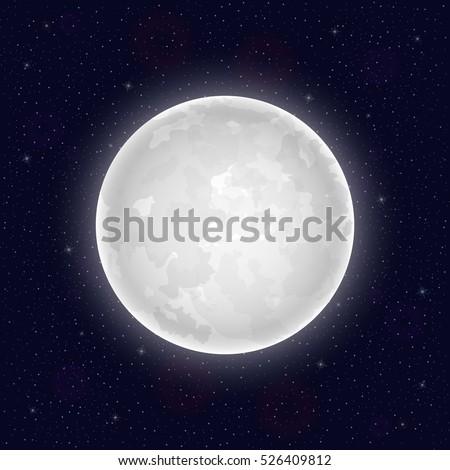 realistic full moon vector