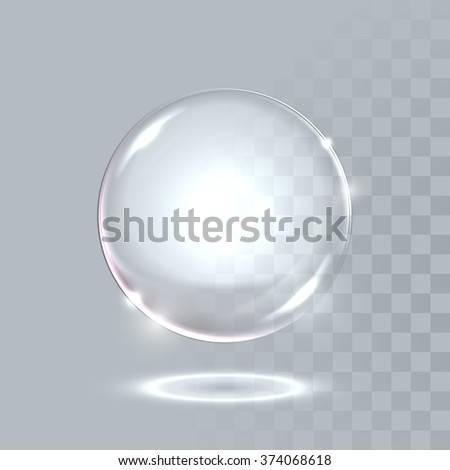 realistic glass ball sphere