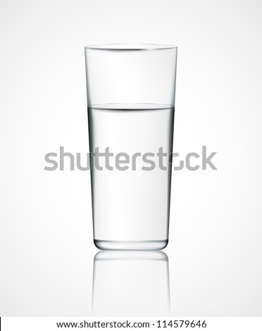 realistic glass of water eps 10
