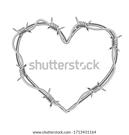 realistic glossy barbed wire in