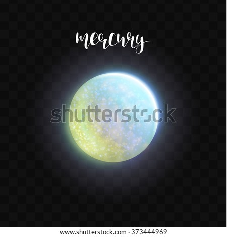 realistic glowing mercury
