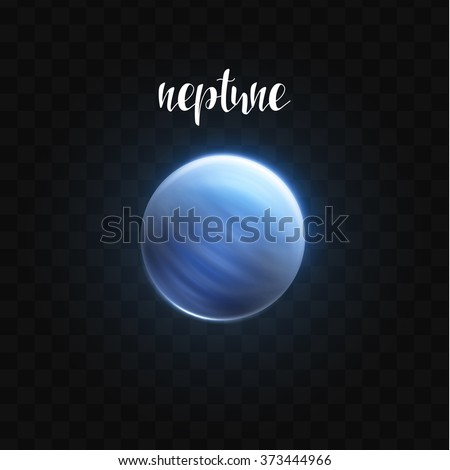 realistic glowing neptune