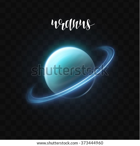 realistic glowing uranus planet