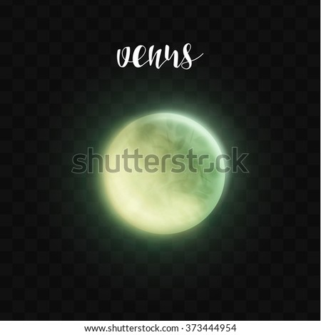 realistic glowing venus planet