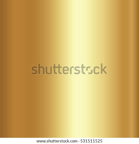 Realistic gold foil texture background. Yellow vector elegant, shiny and metal gradient template for border, frame, ribbon design.