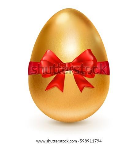 realistic golden easter egg
