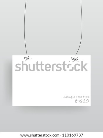 Realistic hanging empty advertisement canvas, panel, billboard, banner (Vector Eps10)