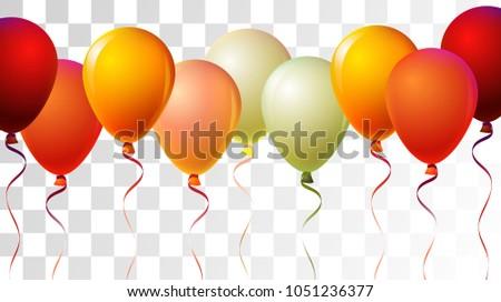 realistic helium balloons