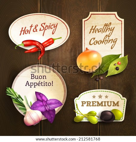 realistic herbs and spices