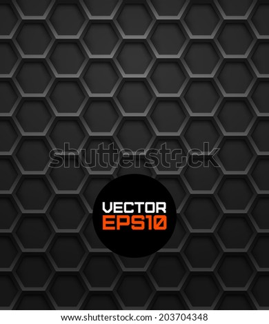 Realistic hexagonal grid background.Vector illustration. Seamless pattern.