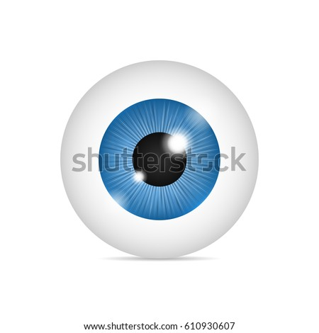realistic human eyeball blue