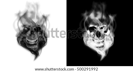 realistic human skull in the