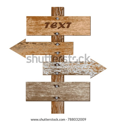 realistic icon of a wooden