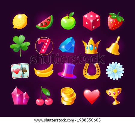 realistic icons for casino slot