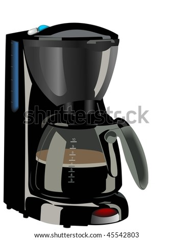Realistic illustration of coffee maker - vector