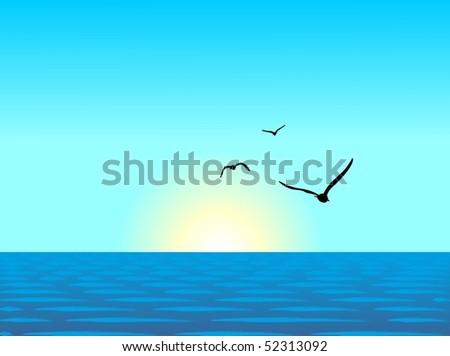 realistic illustration of sea