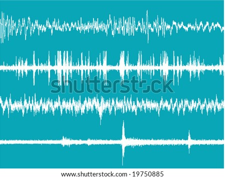 Realistic illustration of the brain waves activity.This file it is a vector and can be scaled at any size. - stock vector