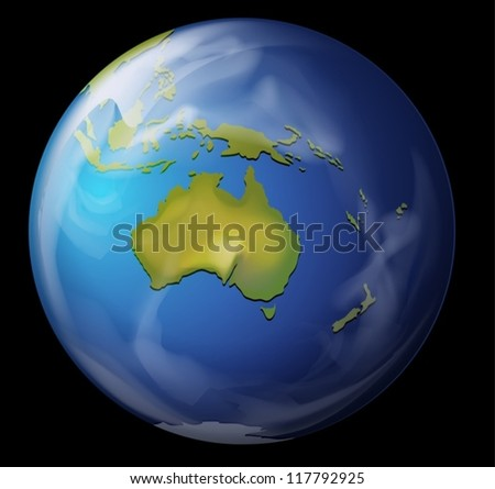 Realistic illustration of the Earth