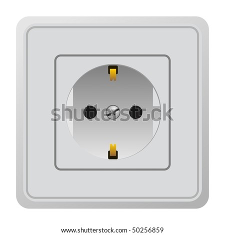 Realistic illustration power outlet - vector