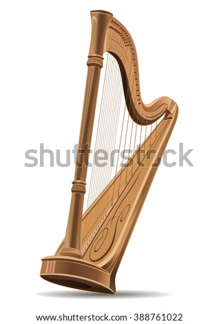 realistic image of the harp