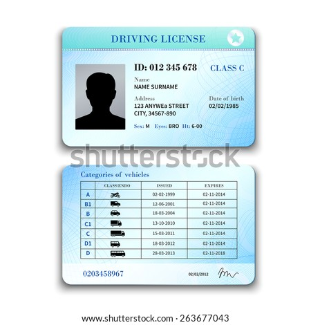 drivers license machine