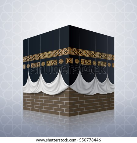 realistic islamic icon kaaba