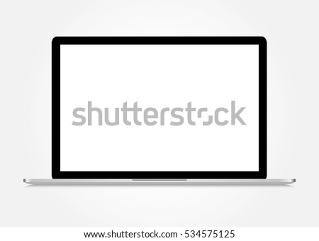 Realistic isolated Laptop