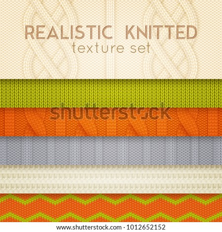 stock-vector-realistic-knitted-patterns-samples-horizontal-layers-set-with-scandinavian-sweaters-cable-stitch