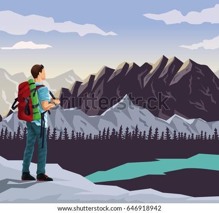 realistic landscape background